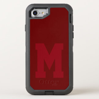 Big Red Varsity Monogram OtterBox Defender iPhone 8/7 Case