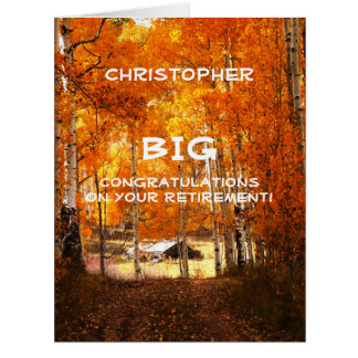 BIG Retirement Congratulations JUMBO, Cabin Aspens Card