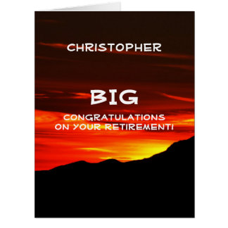 BIG Retirement Congratulations JUMBO, Kolob Sunset Card