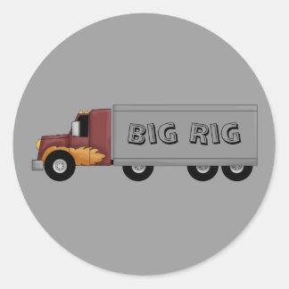 Big Rig 18 Wheeler Semi Truck Fun Stickers