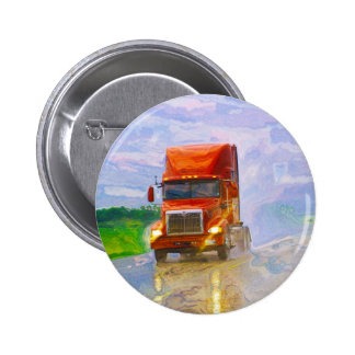 BIG RIG LORRIES & TRUCKS for Truck-lovers 2 Inch Round Button