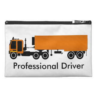 Big Rig Orange Truck Customizable Bag Travel Accessory Bag