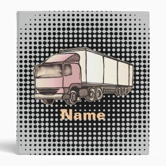 Big Rig Truck custom name Binder