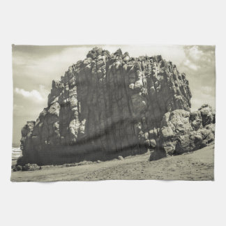 Big Rock at Praia Malhada Jericoacoara Brazil Kitchen Towel