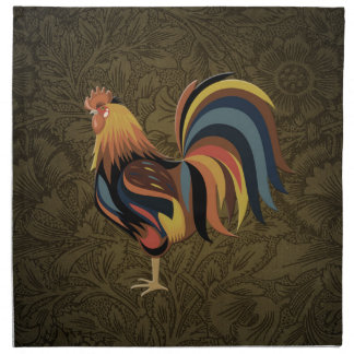 Big Rooster On The Country Farm Deco Ranch Art Napkin
