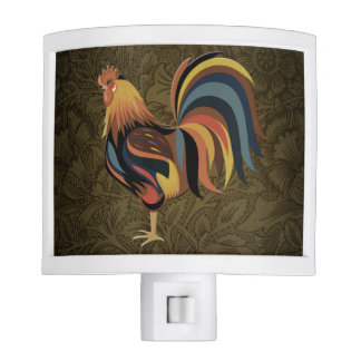 Big Rooster On The Country Farm Deco Ranch Art Night Lite