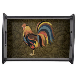 Big Rooster On The Country Farm Deco Ranch Art Serving Tray