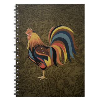 Big Rooster On The Country Farm Deco Ranch Art Spiral Notebook