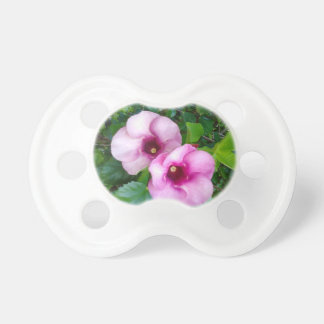 BIG ROUND RED FLOWERS PACIFIER