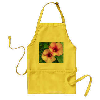 BIG ROUND RED FLOWERS STANDARD APRON