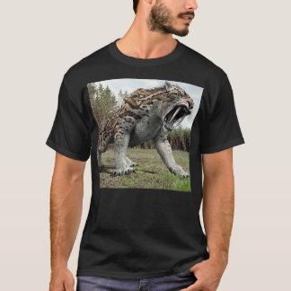 Big  Saber tooth tiger growling T-Shirt