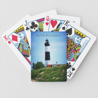 Big Sable Point Lighthouse Bicycle Playing Cards