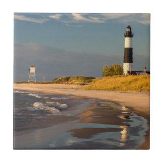 Big Sable Point Lighthouse On Lake Michigan 2 Tile