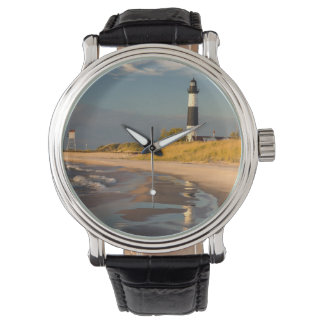 Big Sable Point Lighthouse On Lake Michigan 2 Wristwatches