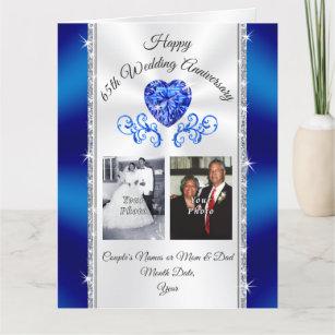 BIG Sapphire Personalized 65th Anniversary Card
