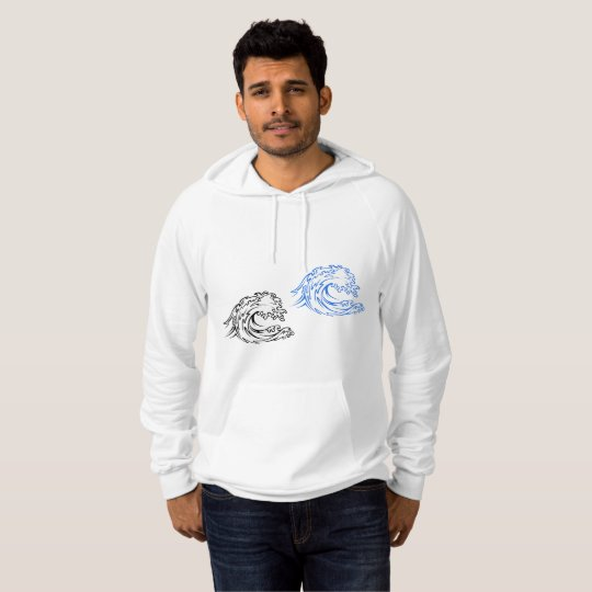 Big Sea Waves Mens Hoodie