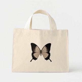 Big Sepia Orange Black Butterfly Canvas Bag