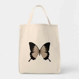 Big Sepia Orange & Black Butterfly Grocery Tote Bag
