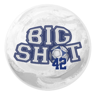 Big Shot Soccerball Ceramic Knob