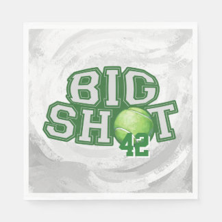 Big Shot Tennis Ball Paper Napkin