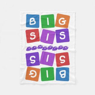 Big Sis custom name fleece blanket
