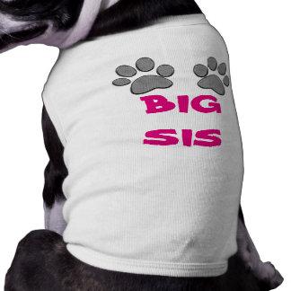 BIG SIS Dog Shirt Dog Paws Shirts for Dogs