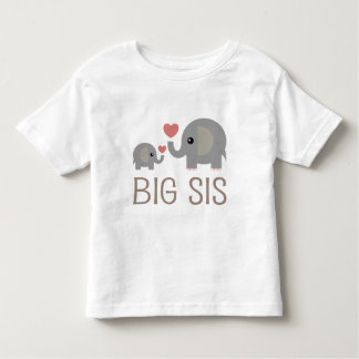 Big Sis Elephant Heart Toddler T-shirt