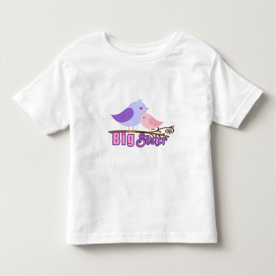 Big Sister-2 Birds on a branch Toddler T-shirt