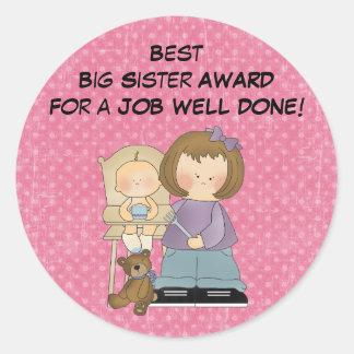 Big Sister Award sticker