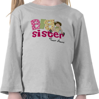 Big Sister Brunette Personalized T-Shirt
