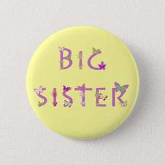 Big Sister, butterflies & flowers 2 Inch Round Button
