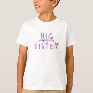 Big Sister, butterflies & flowers shirt