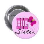 Big Sister Butterfly Tshirts and Gifts Pinback Button