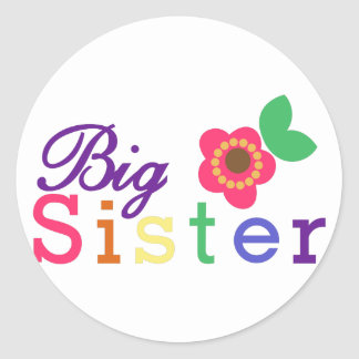 Big Sister Classic Round Sticker