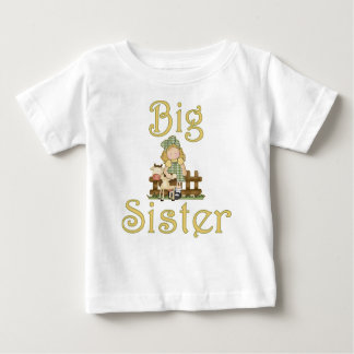 Big Sister Country Girl Cow Baby T-Shirt
