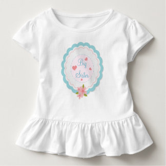 Big Sister Cute Toddler Ruffle Shirt