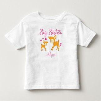 Big Sister Deer Personalized T-shirt