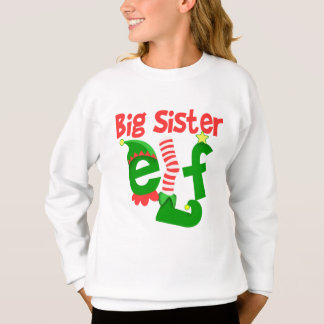 Big Sister Elf Christmas Sweatshirt