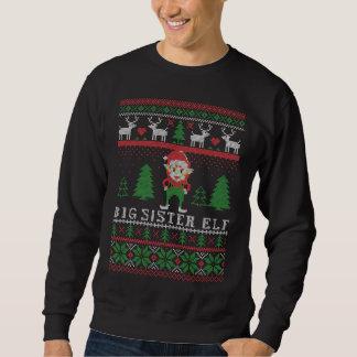 Big Sister Elf Ugly Christmas Sweatshirt