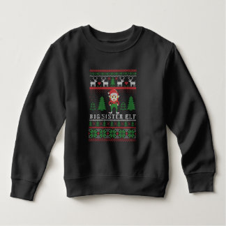 Big Sister Elf Ugly Christmas Sweatshirt