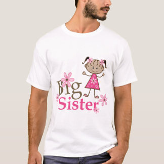 Big Sister Ethnic Stick Figure Girl T-Shirt