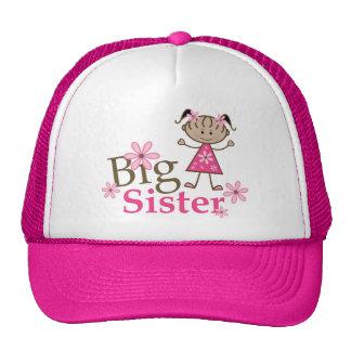 Big Sister Ethnic Stick Figure Girl Trucker Hat