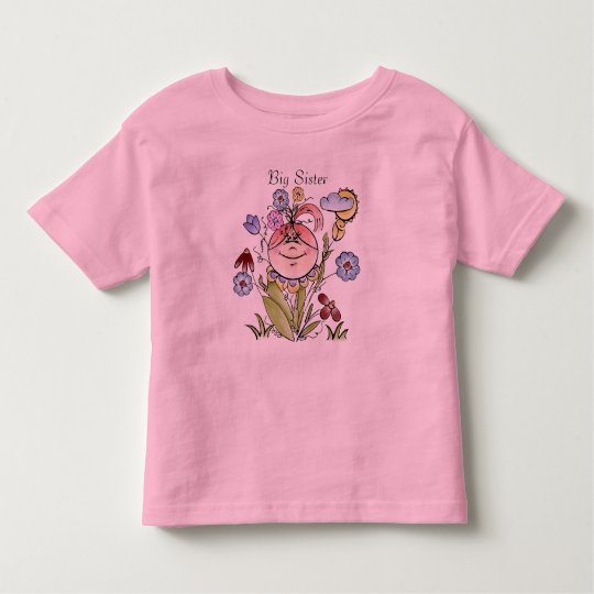 Big Sister Flower Garden Fairy Toddler T-shirt