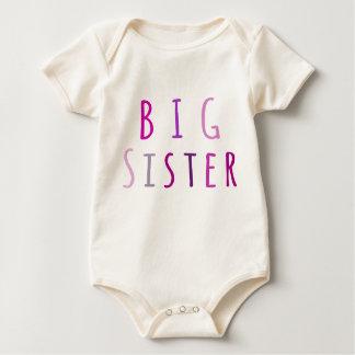 Big Sister in Pink Baby Bodysuit