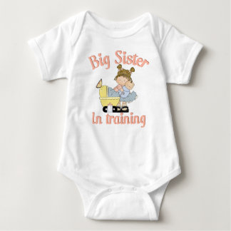 Big sister in training baby bodysuit