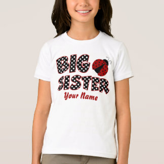 Big Sister Ladybug Personalized T-Shirt