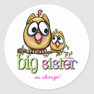 Big Sister - little Brother Round Sticker