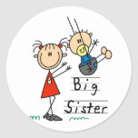 Big Sister Little Brother T-shirts and Gifts Round Sticker