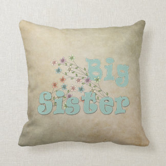 Big Sister Little Flowers Throw Pillow