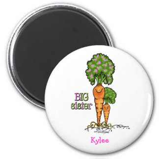 Big Sister - little sibling 2 Inch Round Magnet